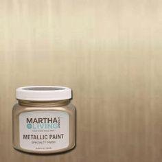 Martha Stewart Living 10 Oz. Vintage Gold Satin Metallic Paint 259285   The