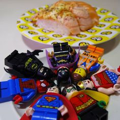 Are we as #Yummy as #Sushi? #toyphotography #legophotography #dccomics #marvel #batman #spiderman #superman #wonderwoman #batgirl #LegoMovie #Robin #Emmet