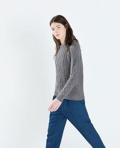 ZARA - WOMAN - CABLE KNIT SWEATER