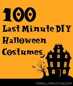 100 Last Minute DIY Halloween Costumes, Last Minute Kids halloween costumes