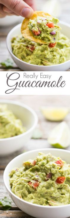 Quick and easy Guacamole, SO much tastier than store bought! Gluten Free, dairy free, vegan, vegetarian, paleo, primal, and Whole 30 compliant.