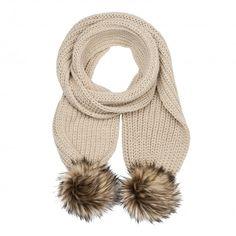 5011181246a7 Chunky Pom Pom Knit Scarf   All   Oliver Bonas Faux Fur Pom Pom, Pom