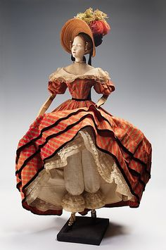 """fashionsfromhistory: Doll"""" from the Gratitude Train Marcelle Dormoy 1949 """" Marcelle Dormoy's creation for the Gratitude Train was designed after a dress by Mlle. Palmyre, whose salon served the. Historical Costume, Historical Clothing, Moda Fashion, Fashion Dolls, Antique Dolls, Vintage Dolls, Period Outfit, Costume Collection, Antique Clothing"""