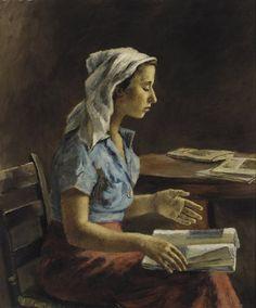 Girl Reading, c1935. Alexander Brook (American, 1898-1980).