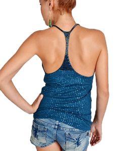 06038f74a9d9 Luz de Ibiza Collection · Show off your back with this Royal Blue Sequin  Racerback Top  LuzdeIbiza  bali