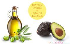 Avocado & Olive Oil Face Mask for Dry Skin