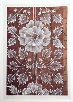 Texture Painted Floral Greeting Card - SOLD!