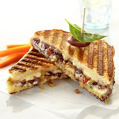Olive tapenade brings a great taste sensation to grilled cheese sandwiches.
