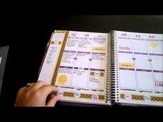 How I use my Erin Condren Life Planner {DIY dividers} - YouTube