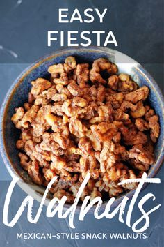 Crunchy walnuts with savory Mexican flavor that's hard to resist! Prepare to eat the whole bowl!
