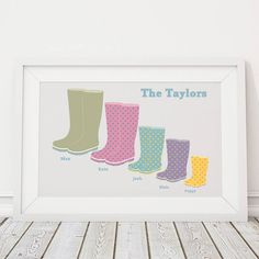 Are you interested in our personalised family print? With our personalised wellies print you need look no further.
