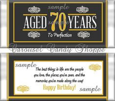 Birthday Party Favors Hershey's Candy Bar Wrappers by carouselcandyshoppe 80th Birthday Party Favors, 75th Birthday, Birthday Celebration, Birthday Ideas, Birthday Cards, Happy Birthday, Party Favors For Adults, Candy Bar Wrappers, Papi