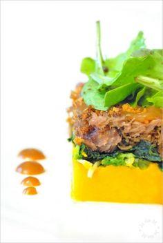 Recette parmentier automnal et son crumble de pain d'épice par Margaux  : Mon 1er challenge pour la sélection Top Chef la web série..Ingrédients : canard