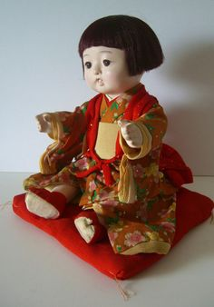 Ichimatsu doll, vintage Japanese ningyo, fully articulated....  I have one of these....Almost Identical....