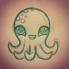 dessin octopus poulpe drawing animals doodle kawaii pieuvre