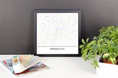 Now available in our store: Framed Map Poster... Check it out here! http://shop.mapprints.co/products/framed-map-poster-of-houston-texas-simple-ski-map-houston-map-art?utm_campaign=social_autopilot&utm_source=pin&utm_medium=pin