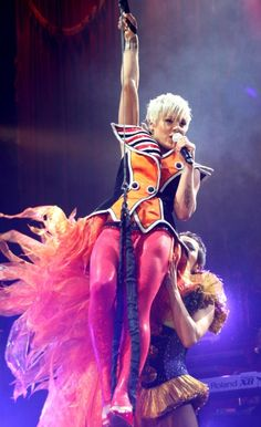 Pink performs in the UK