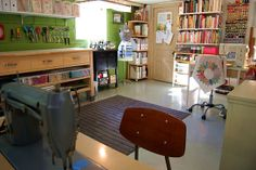 Basement sewing room