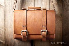 Leather Bag Men's Leather Bag Leather Briefcase Leather por MrLentz