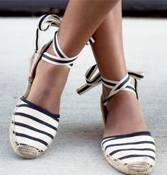 striped espadrilles, very pretty and so summery !