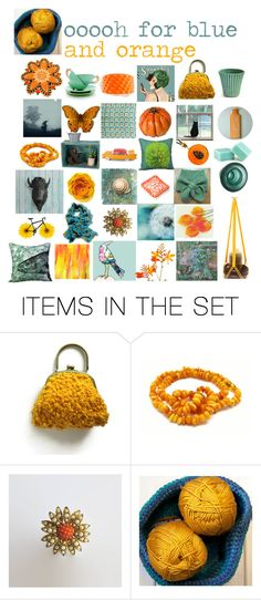 """oooh for blue and orange"" by belinda-evans ❤ liked on Polyvore featuring art"