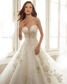 Sophia Tolli is a designer wedding dress line that features incredibly romantic wedding dresses from charming A-line silhouettes to classic high necklines. Sophia Tolli wedding dresses will make your wedding day feel even more magical. Spring 2017 Wedding Dresses, Bridal Dresses, Wedding Gowns, Wedding Attire, Wedding Cakes, Bridesmaid Dresses, Wedding Shoppe, 2017 Bridal, Bridal Collection