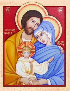 ICONA SACRA FAMILIA ~Icon of the Holy Family