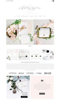 Website design inspiration for boutique wedding stationery and invitation design. Using Samantha WordPress Theme by Bluchic. The post Website design inspiration for boutique wedding stationery and invitation design& appeared first on Design. Site Web Design, Design Sites, Website Design Layout, Wordpress Website Design, Wedding Website Design, Web Layout, App Design, Layout Design, Website Design Inspiration