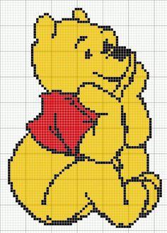 Winnie the Pooh Disney Crochet Patterns, Disney Cross Stitch Patterns, Cross Stitch For Kids, Cross Stitch Cards, Cross Stitch Designs, Cross Stitching, Cross Stitch Embroidery, Hand Embroidery, Diy Embroidery Letters