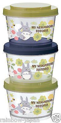 My Neighbor Totoro 3P 240ml Storage Container Lunch Food Bento Studio Ghibli BF