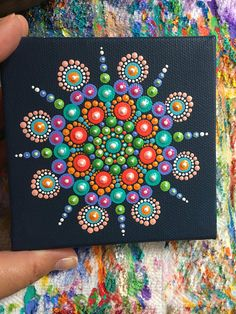 Original Mandala Dot Art Painting. Dot painting.