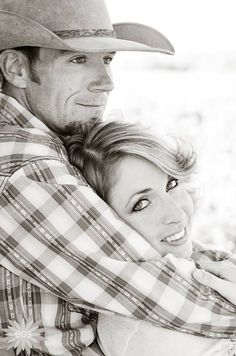 Love my cowboy. Couples picture, engagement photo idea #western