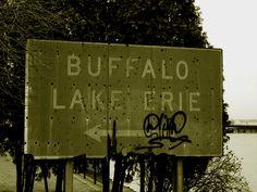 Erie Canal, Buffalo, NY, USA March 2004