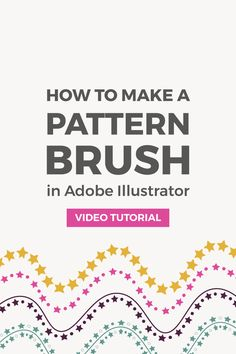 How to make a seamless geometric pattern brush in Illustrator. You can use pattern brushes to create borders and frames for your graphics.