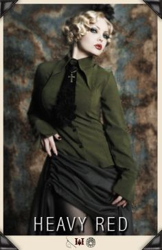 LOVE IS A BATTLE DRESS SHIRT  The Gothic Lolita fitted muted olive button up dress shirt. Straight from the disturbed realm of Japanese Goth...  http://www.heavyred.com/LOVE-IS-A-BATTLE-DRESS-SHIRT-p/2403.htm  #gothicclothing #gothic #heavyred #militaryshirts #dressshirt #steampunk