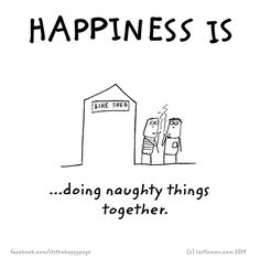 Happiness is doing naughty things together