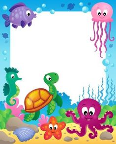 Frame With Underwater Animals Royalty Free Cliparts, Vectors, And Stock Illustration.