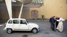 Found our #MTguess tricky? It was in fact the 1984 #Renault 4 now owned by the very modest pope,