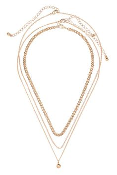 3-pack Necklaces - Gold-colored - Ladies | H&M CA 1