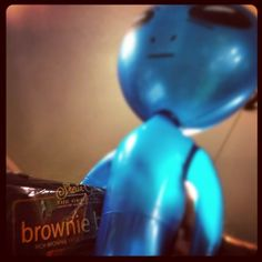 BlueAlien has abducted the brownie brittle.