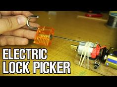 How to make electric Lock picker tool - YouTube