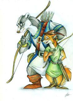 Lonna Bowstripe and Robin... by FortunataFox.deviantart.com on @deviantART