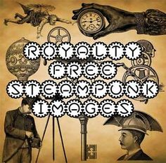 STEAMPUNK-ROYALTY-FREE-CLIP-ART-CD-CRAFT-IMAGES-LIKE-TIM-HOLTZ-CARD-MAKING