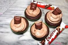 Kinder Bueno Cupcakes [Rezept] | Beauty and the beam