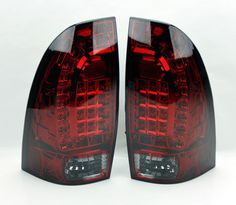 129 90 Toyota Tacoma 05 14 Led Rear Tail Lights Red Smoke Smoked Pair Rh Lh