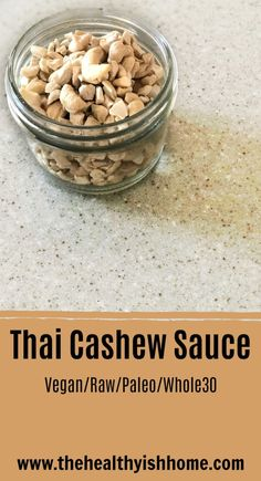 Participating in Thai food was completely out of the question but it was something that I really wanted to eat. This cashew sauce mimics Thai flavors without the soy, sugar, legume, and dairy that is normally in Thai food. Best Dinner Recipes, Whole 30 Recipes, Healthy Eating Recipes, Vegan Recipes, Vegan Meals, Free Recipes, Healthy Snacks, Vegan Gluten Free, Dairy Free