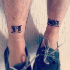 POPPIN CHAMPAGNE http://tattoos-ideas.net/poppin-champagne/ Leg Tattoos