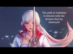 """RWBY volume 5 soundtrack """"The Path to Isolation"""" (feat. Casey Lee Williams) by Jeff Williams (unofficial) with lyrics I Have A Crush, Having A Crush, Rwby Songs, Rwby Volume 5, Rwby Weiss, Lee Williams, Red Like Roses, Blake Belladonna, Team Rwby"""