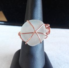 Items similar to Genuine Irish sea glass ring. made in Ireland. on Etsy Sea Glass Ring, Wire Rings, Copper Wire, Wire Wrapping, Ireland, Unique Jewelry, Handmade Gifts, Gold, How To Make