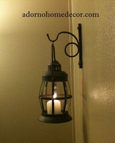 Metal Lantern Wall Sconce Rustic Industrial Antique Vintage Shabby Unique Chic #Unbranded
